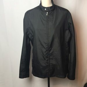 BANANA REPUBLIC MENS SZ M LIGHTWEIGHT BLACK JACKET